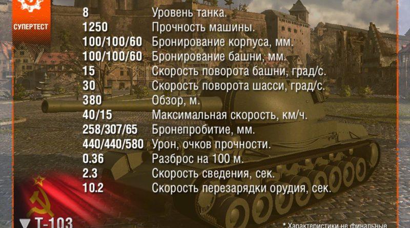 Т-103: Новая советская ПТ-САУ 8-го уровня